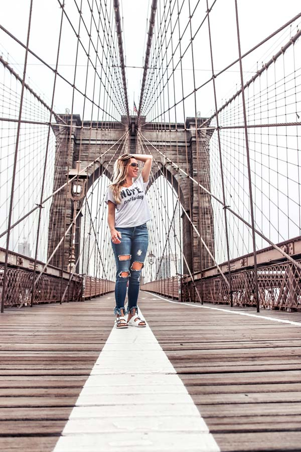 Walking across the Brooklyn Bridge is one of the top things to do in NYC