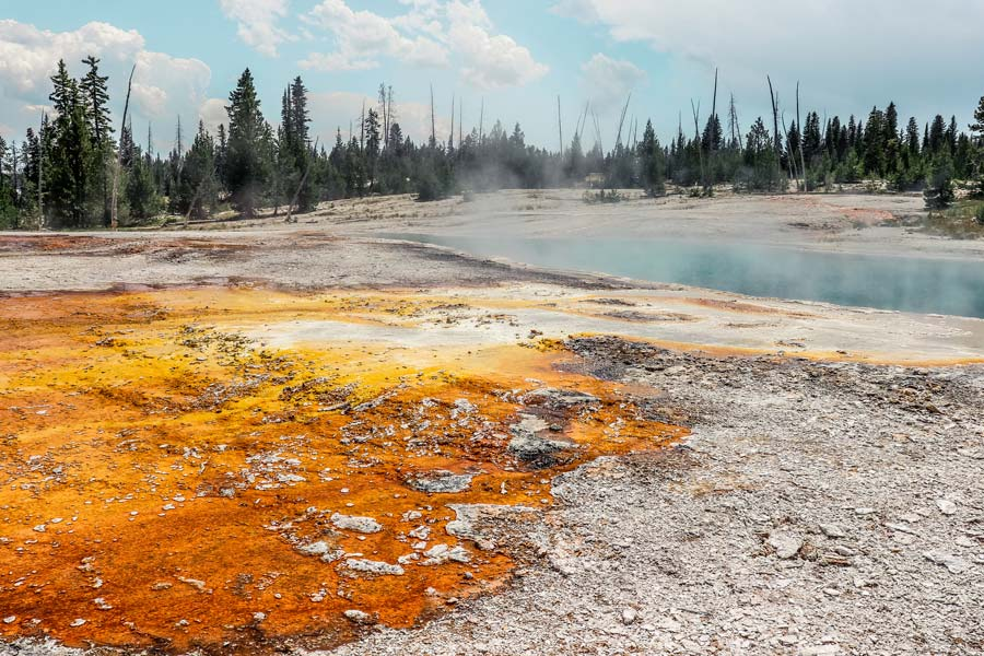 West Thumb Geyser is a great place to add to your Yellowstone Itinerary