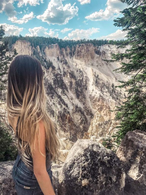 Lookout Point in Yellowstone