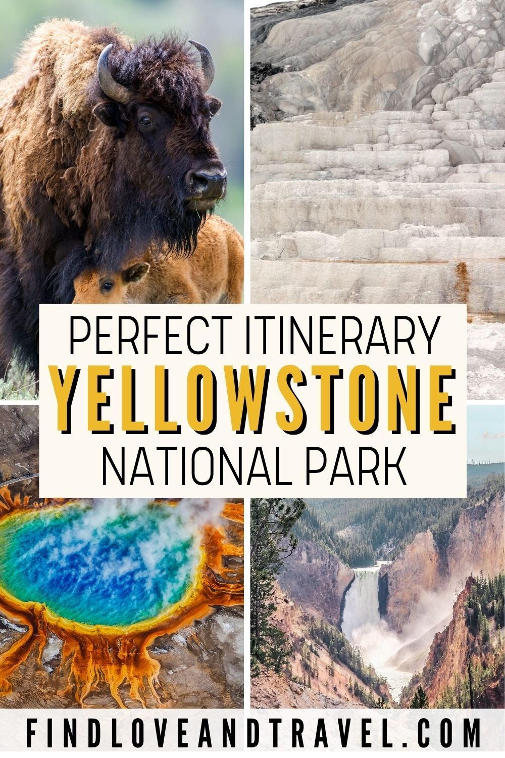 Yellowstone National Park itinerary in 2 days with Free Map included and travel tips.