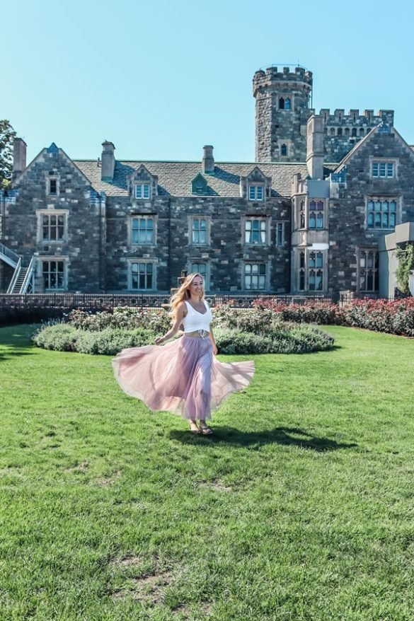 The Sands point Preserve Castle and estate is one of the best things to do in Long Island
