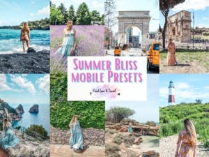 Find Love Travel Summer Bliss Presets