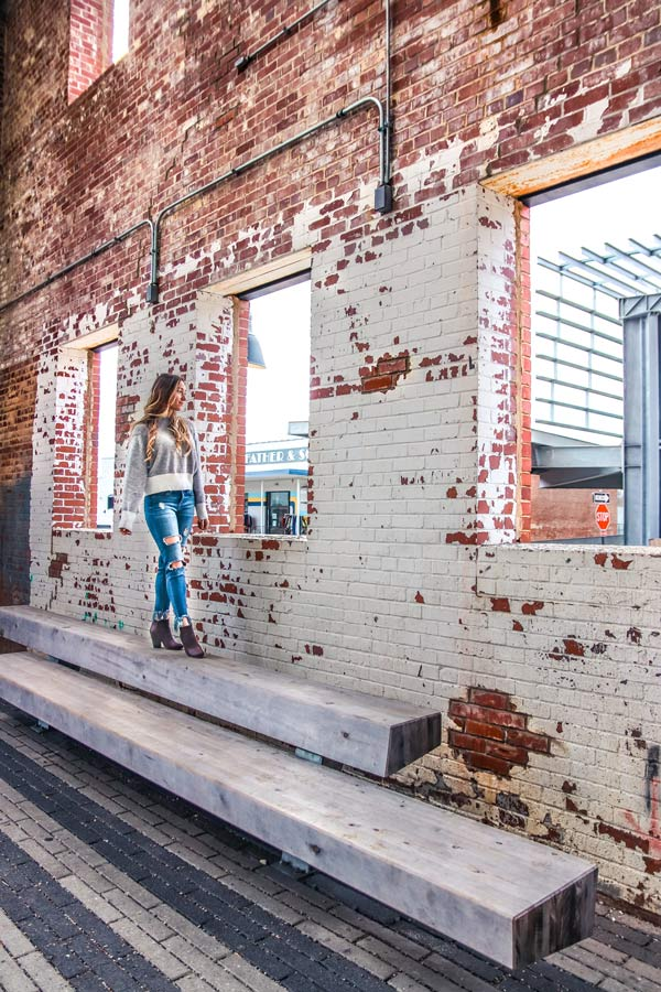 The warehouse district in downtown Raleigh is super instagrammable