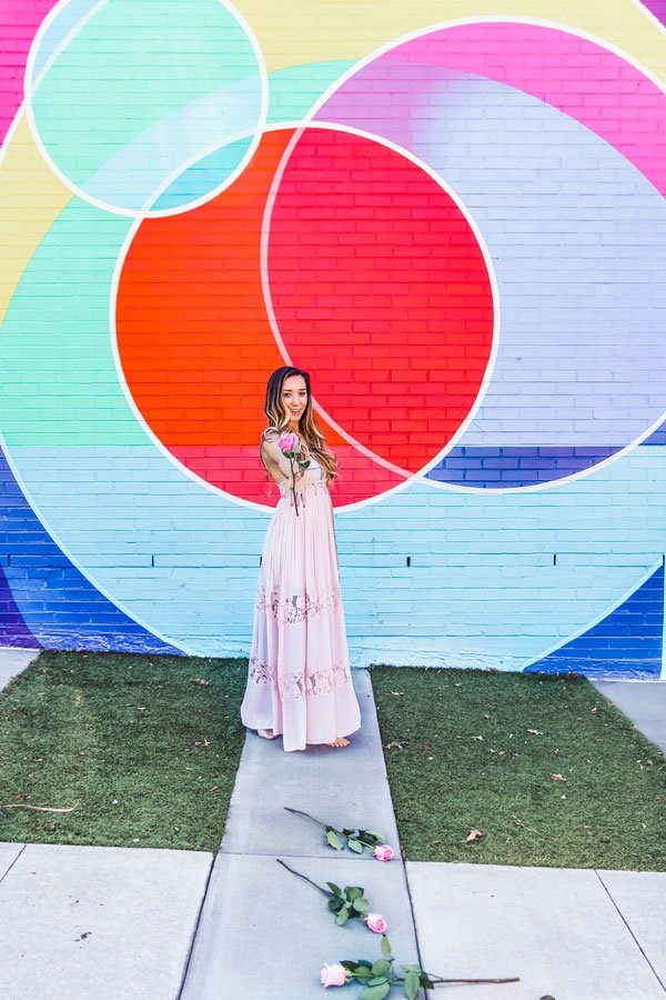 The Marbles mural is a one of the most instagrammable places in Raleigh, NC