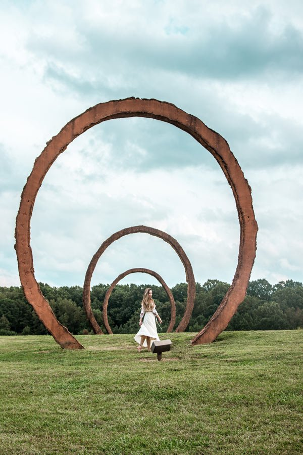 The NC Art Museum outdoors sculptures is another free things to enjoy in Raleigh
