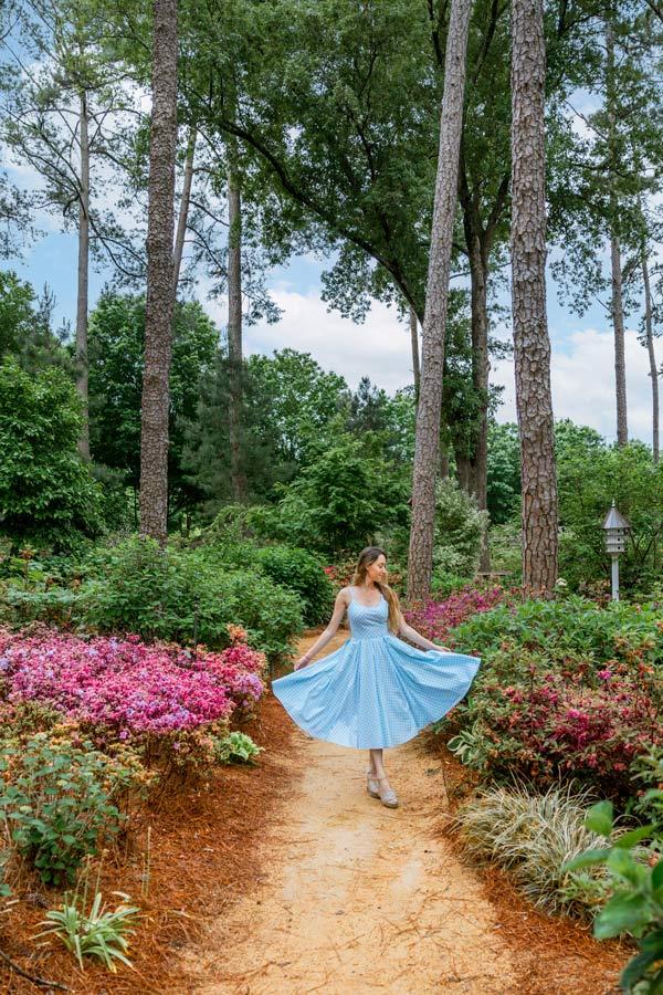 Azalea Garden in Raleigh is very instagrammable