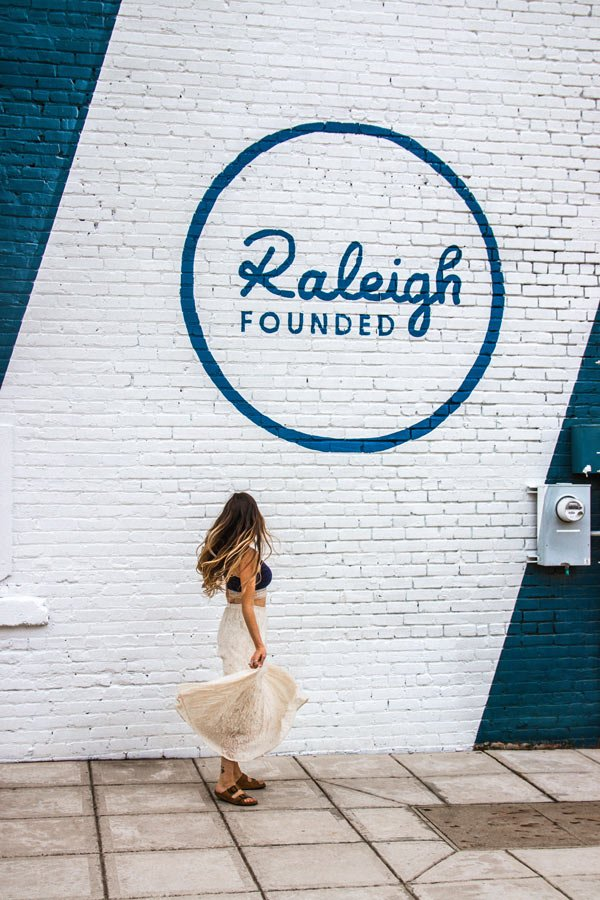 Raleigh Founded mural is a very Instagram-worthy location