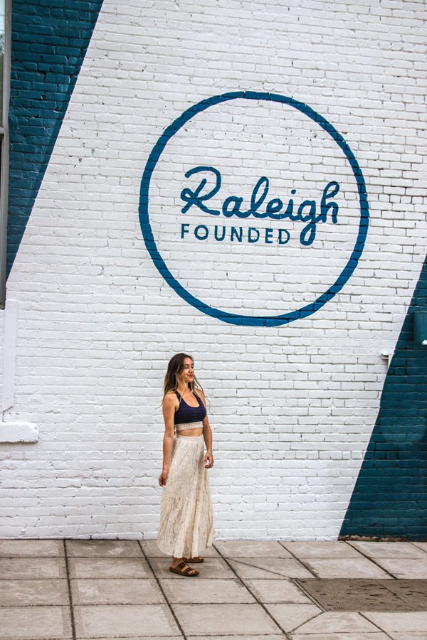 Raleigh Founded Mural