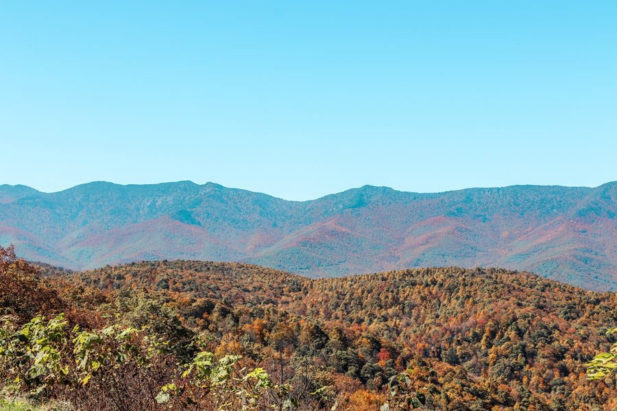 Blue Ridge Parkway mountains