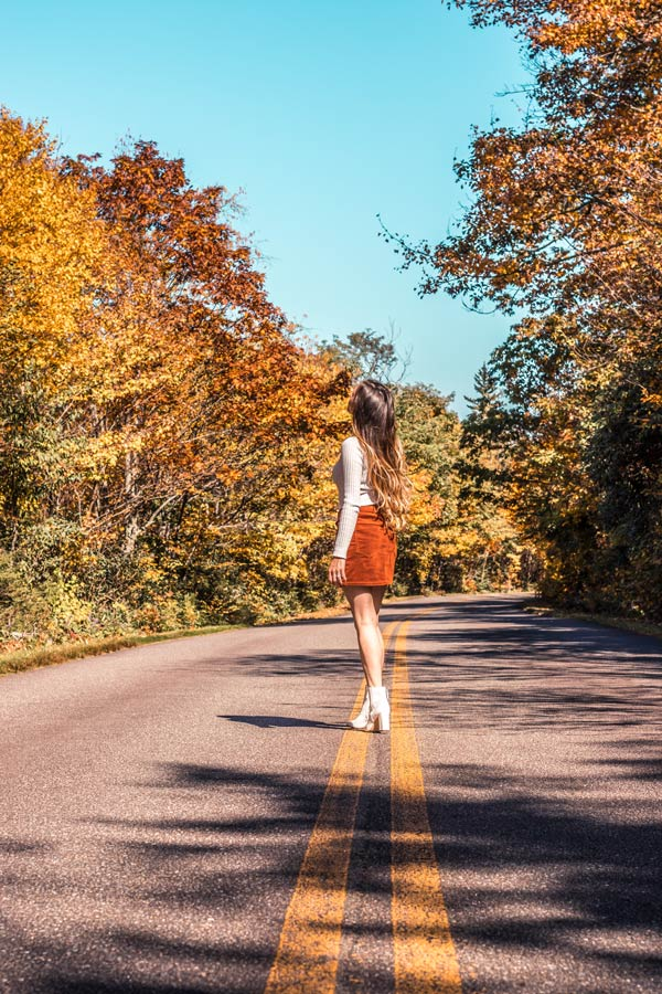 Road on the Blue Ridge Parkway is the perfect weekend attraction from Boone NC