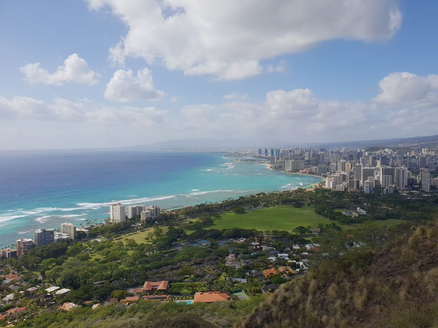 Diamond Head Overlook of Waikiki in Hawaii