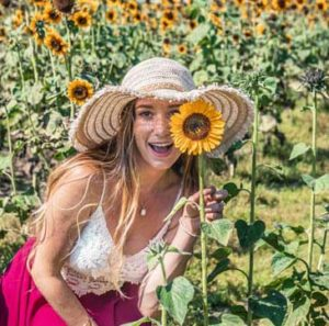 Find Love & Travel About Me Sunflower photo