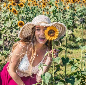 Sam Opp Find Love & Travel About Me Sunflower photo