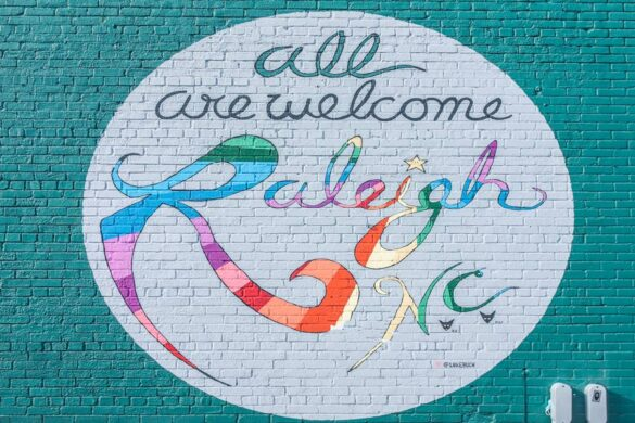 Photo-worthy All are welcome Raleigh NC Murals at Pooles Dinner