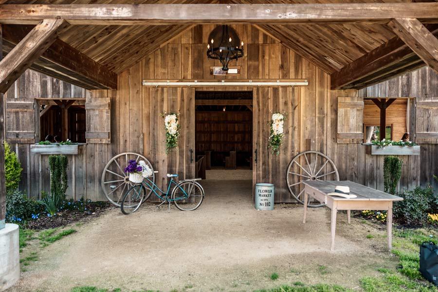 Dewberry Farm barn entrance.