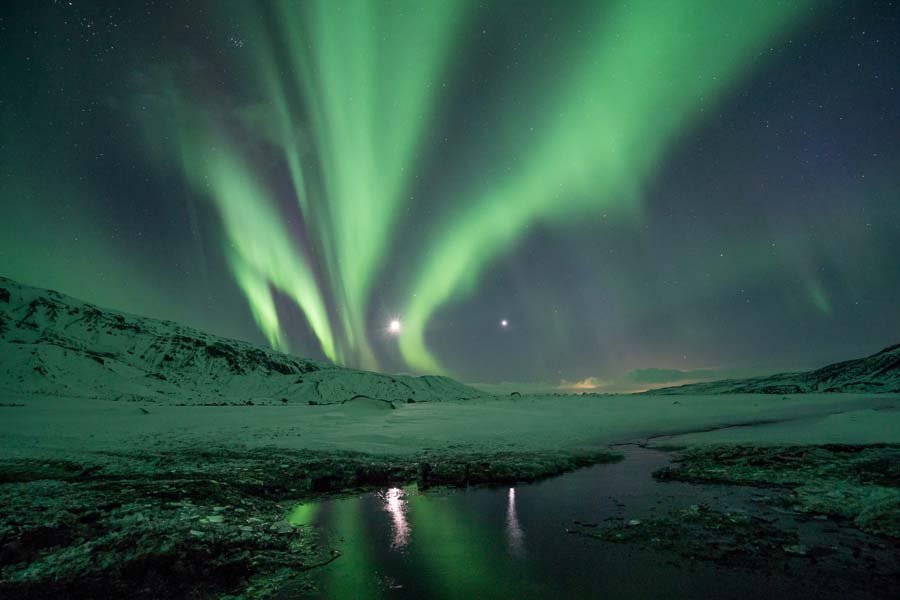 see the northern lights in Iceland between November - March travel tips.