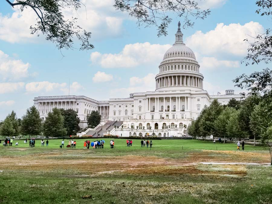 Seeing the Capitol is a must during any Washington DC weekend Itinerary