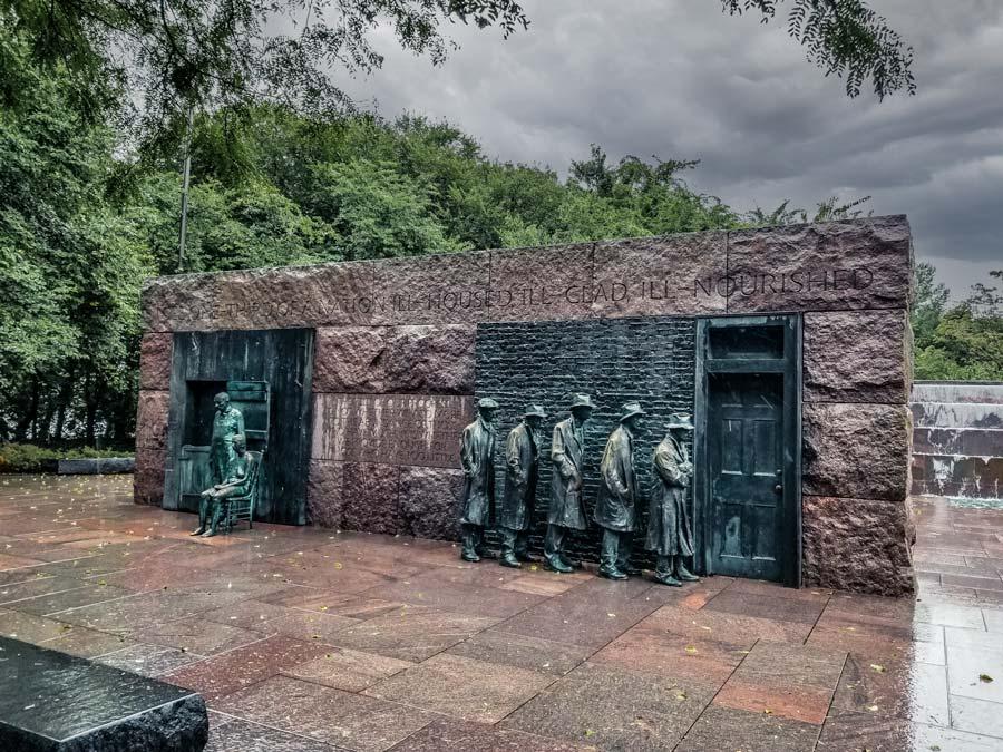FDR Memorial in Washington DC National Mall.