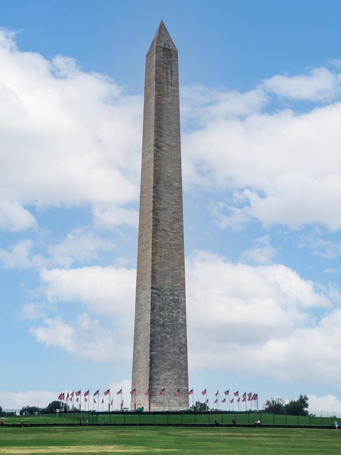 The Washington Monument, a must on any weekend itinerary in Washington DC