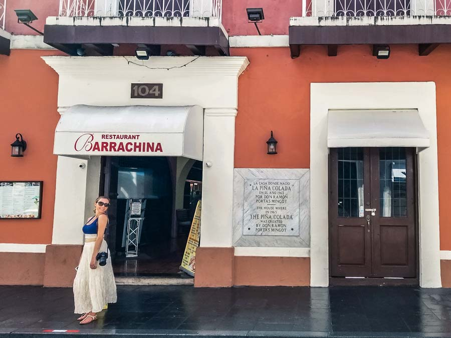Having a Pina Colada at Barrachina is one of the best things to do in Old San Juan