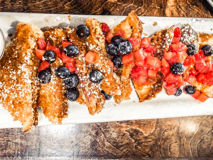 Blu Jam Cafe french toast in Los Angeles