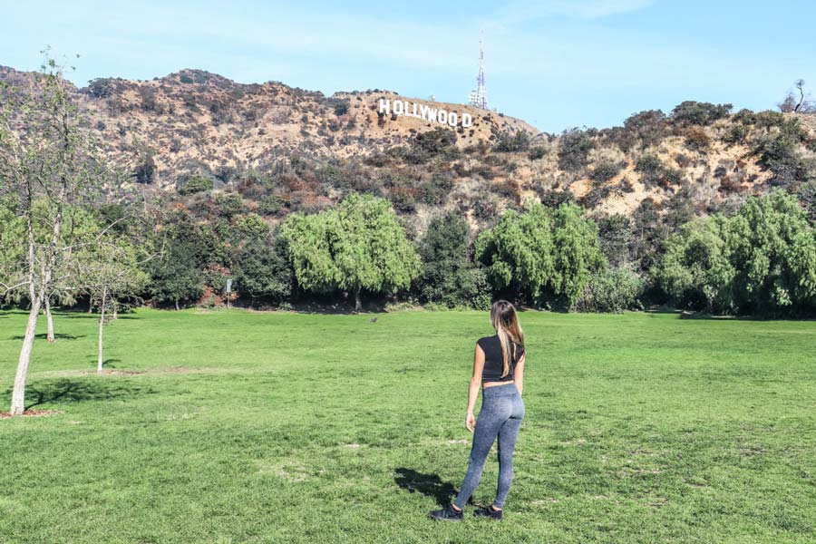 View the Hollywood Sign in Los Angeles at Lake Hollywood Park