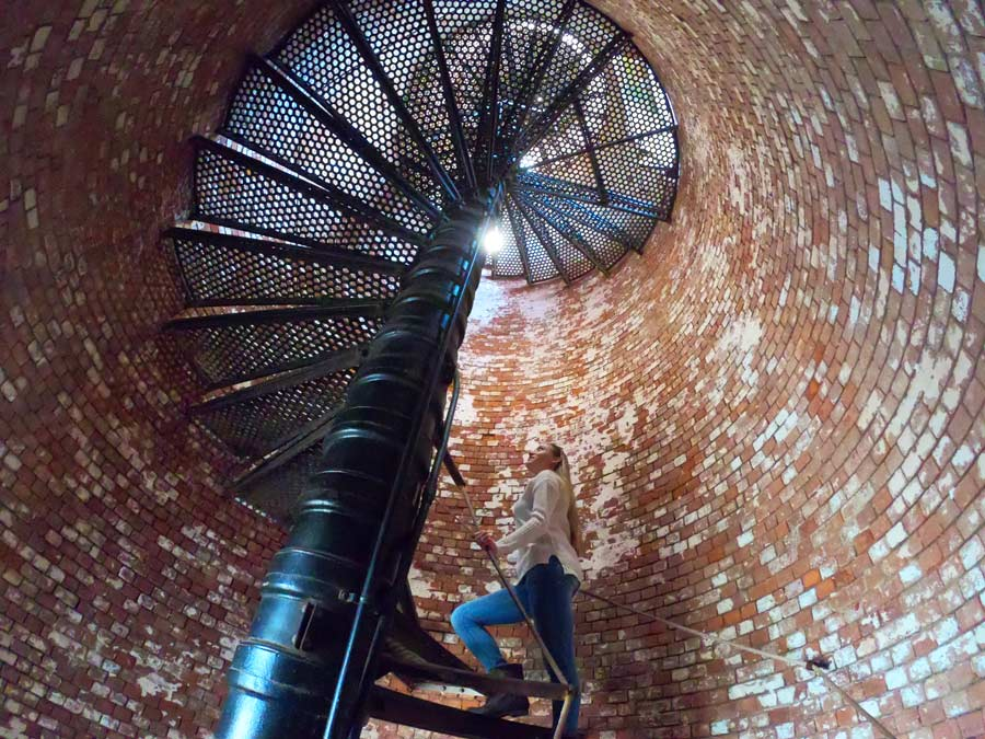Inside the Fire Island lighthouse on Long Island instagrammable places