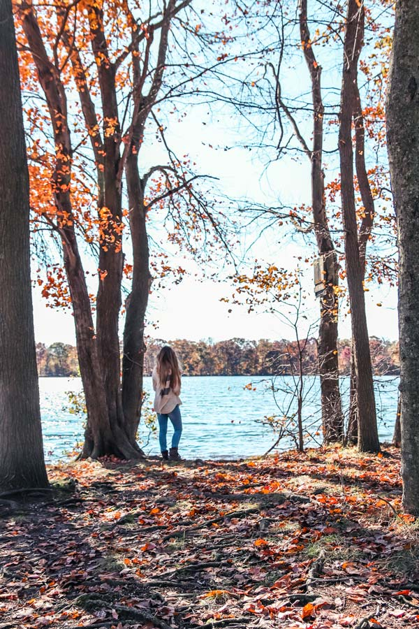 Hempstead Lake Park during Fall is one of the best places to take instagrammable photos on Long Island
