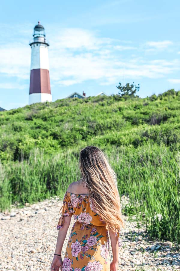 The Montauk Lighthouse is one of the best places to get instagrammable photos.