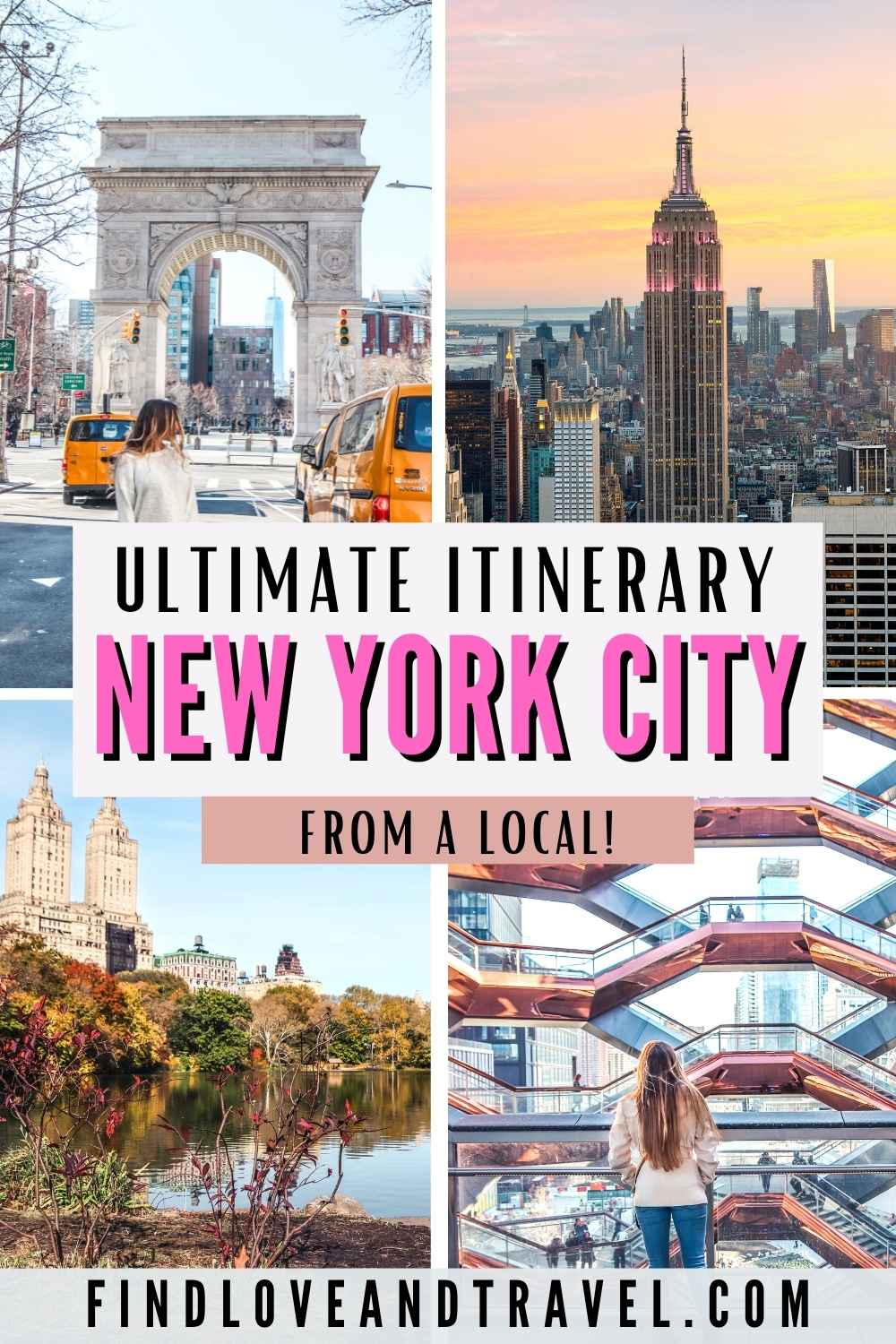 New York in 4 Days travel itinerary NYC