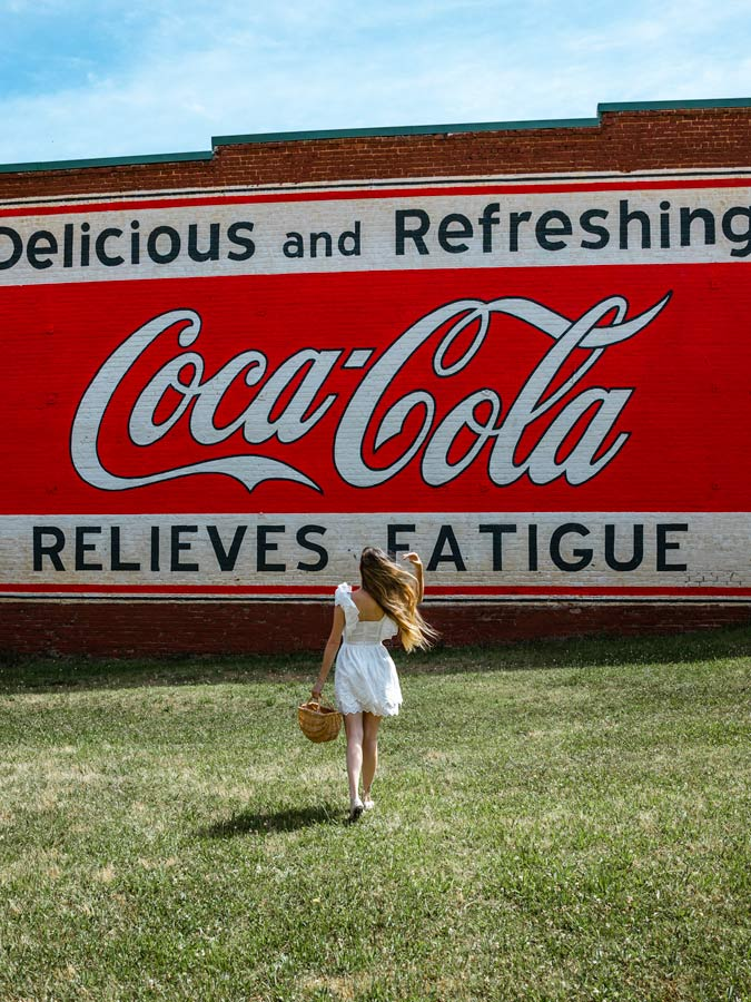 Coca-Cola Mural in Downtown Mooresville, NC