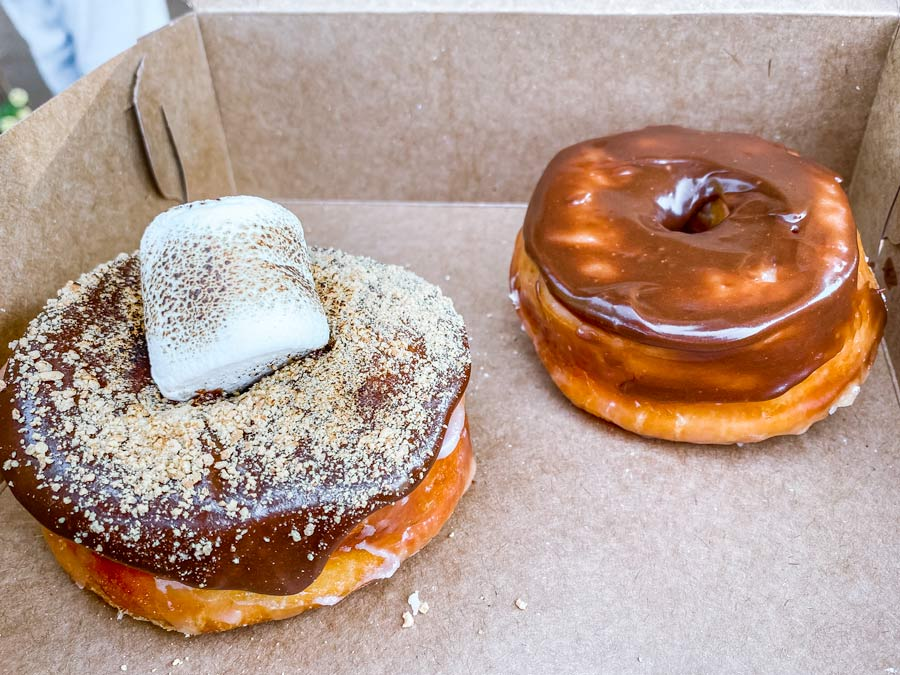 Down for Doughnuts S'mores and and Chocolate Doughnut in Mooresville, NC