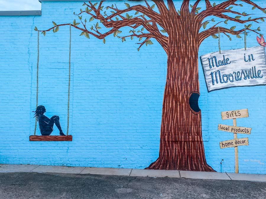 Made in Mooresville, NC mural in downtown.