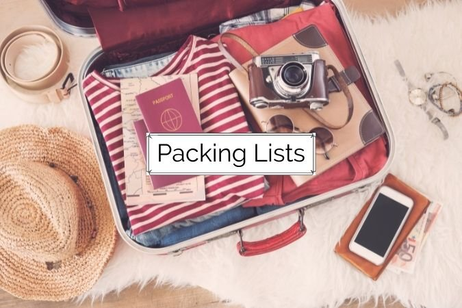 Packing lists from Find Love & Travel