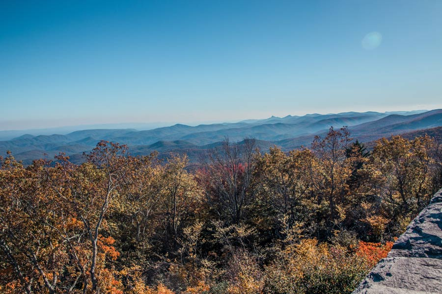 Blue Ridge Parkway at Grandfather Mountain in Boone NC is perfect for the weekend