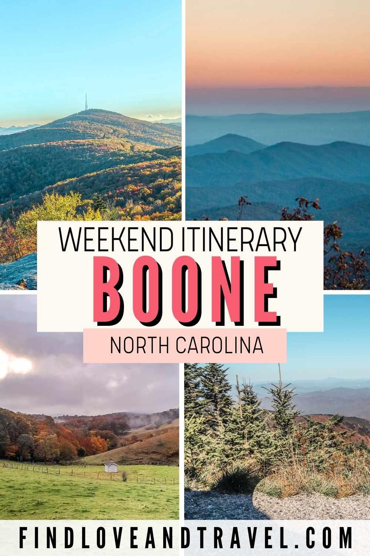 Boone NC weekend Itinerary