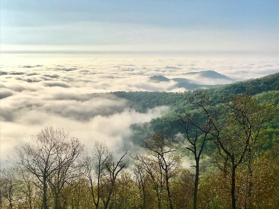 Shenandoah National Park Overlook in Virginia