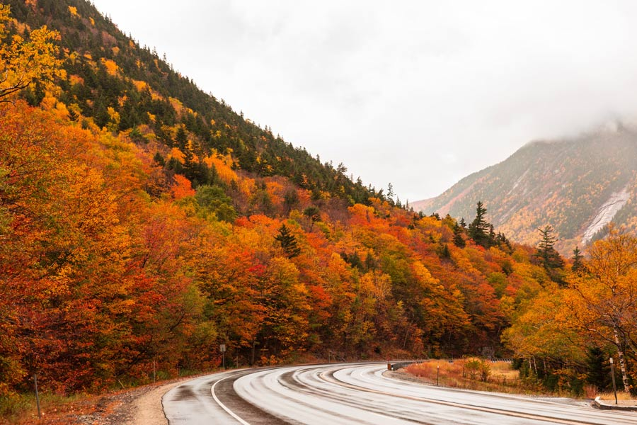 White Mountains New Hampshire in Fall