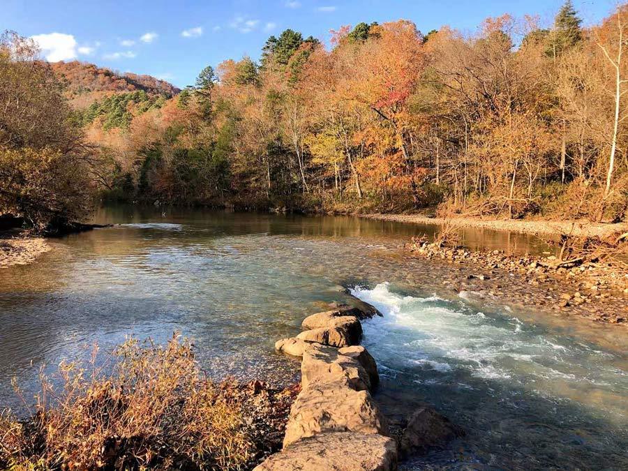 Buffalo National River in Ozark Arkansas during fall