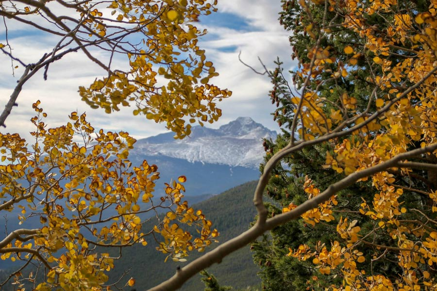 Rocky Mountains National Park Colorado fall foliage USA